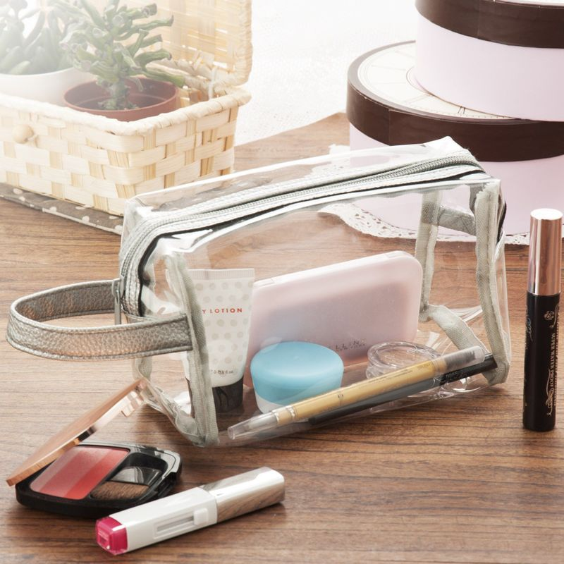 Waterproof-PVC-Zip-Pouch-Kit-Transparent-Clear-Travel-Cosmetic-Wash-Bag-Storage thumbnail 10