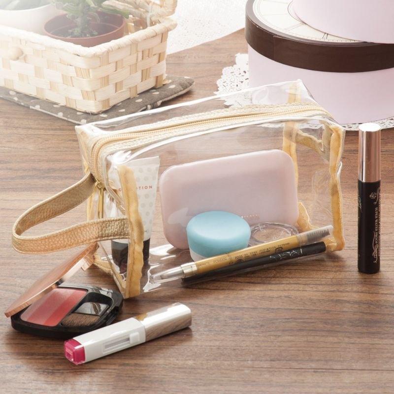 Waterproof-PVC-Zip-Pouch-Kit-Transparent-Clear-Travel-Cosmetic-Wash-Bag-Storage thumbnail 7