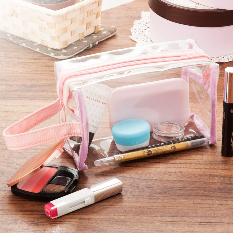 Waterproof-PVC-Zip-Pouch-Kit-Transparent-Clear-Travel-Cosmetic-Wash-Bag-Storage thumbnail 13