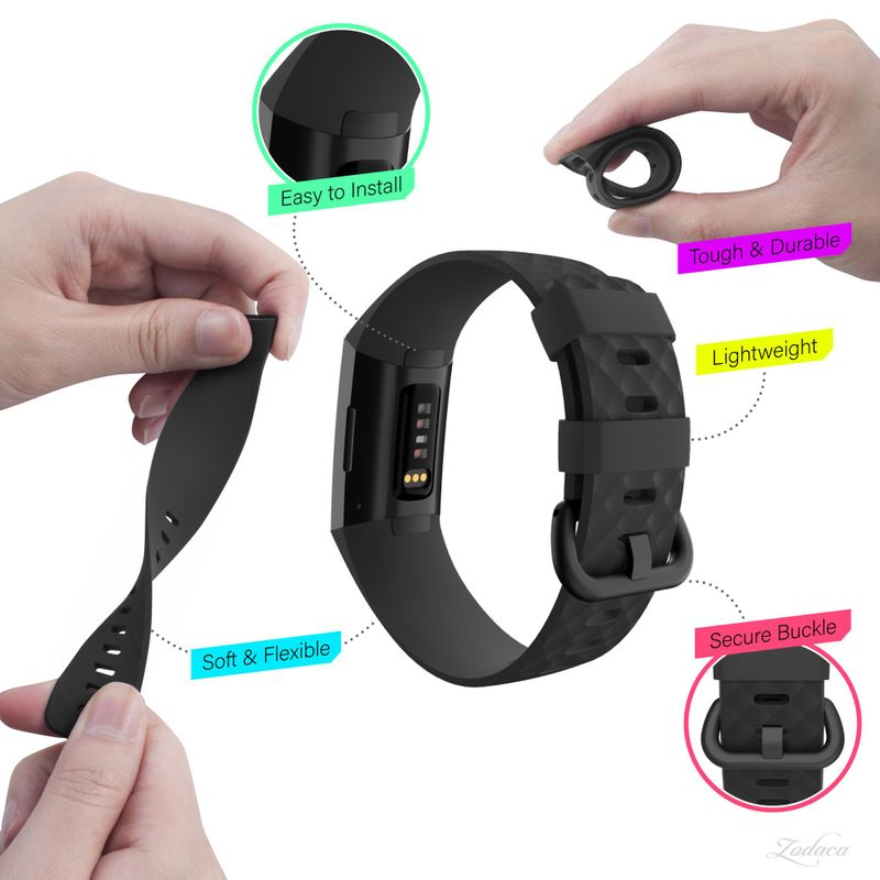 Replacement-Watch-Band-For-Fitbit-Charge-3-Wristband-Silicone-Bracelet-Strap thumbnail 6