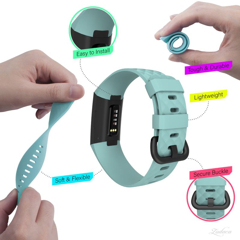 Replacement-Watch-Band-For-Fitbit-Charge-3-Wristband-Silicone-Bracelet-Strap thumbnail 30