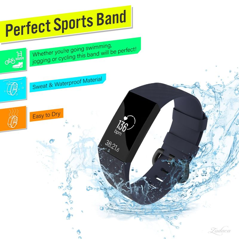 Replacement-Watch-Band-For-Fitbit-Charge-3-Wristband-Silicone-Bracelet-Strap thumbnail 17