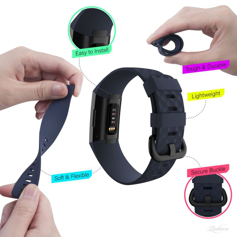 Replacement-Watch-Band-For-Fitbit-Charge-3-Wristband-Silicone-Bracelet-Strap thumbnail 18