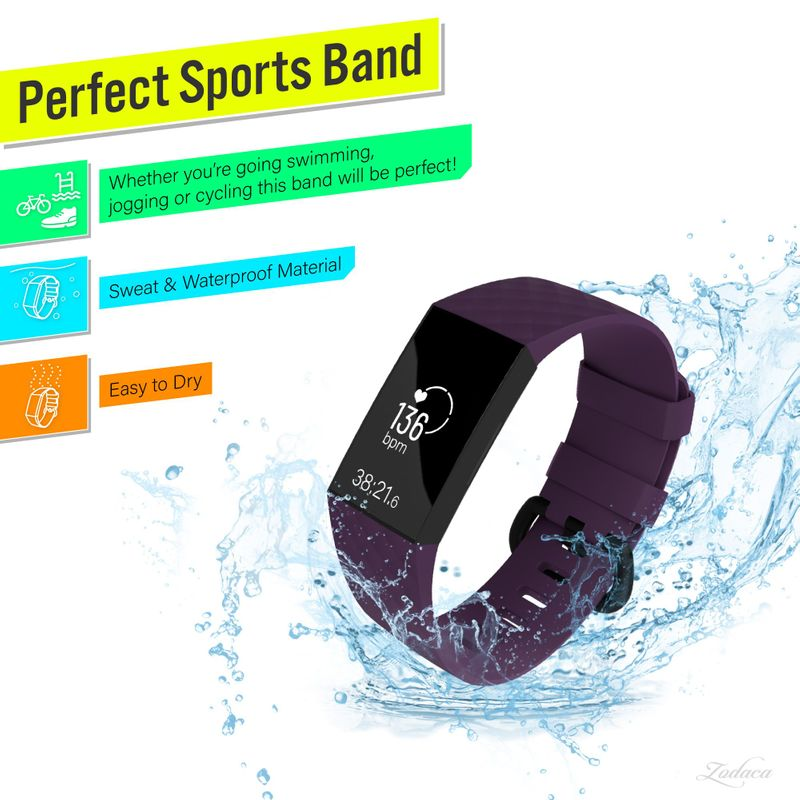 Replacement-Watch-Band-For-Fitbit-Charge-3-Wristband-Silicone-Bracelet-Strap thumbnail 41
