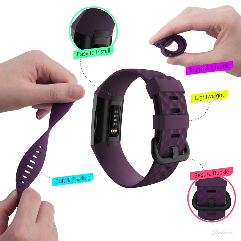 Replacement-Watch-Band-For-Fitbit-Charge-3-Wristband-Silicone-Bracelet-Strap thumbnail 42