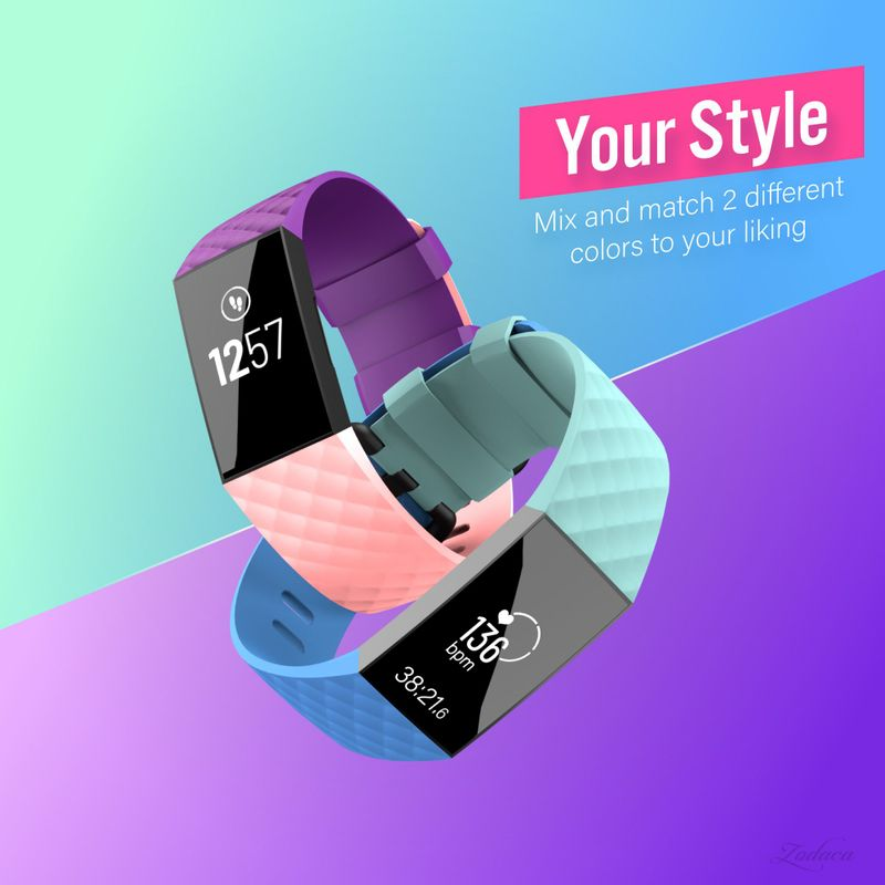 Replacement-Watch-Band-For-Fitbit-Charge-3-Wristband-Silicone-Bracelet-Strap thumbnail 43