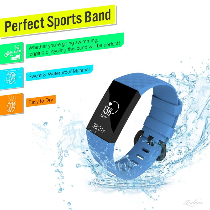 Replacement-Watch-Band-For-Fitbit-Charge-3-Wristband-Silicone-Bracelet-Strap thumbnail 11