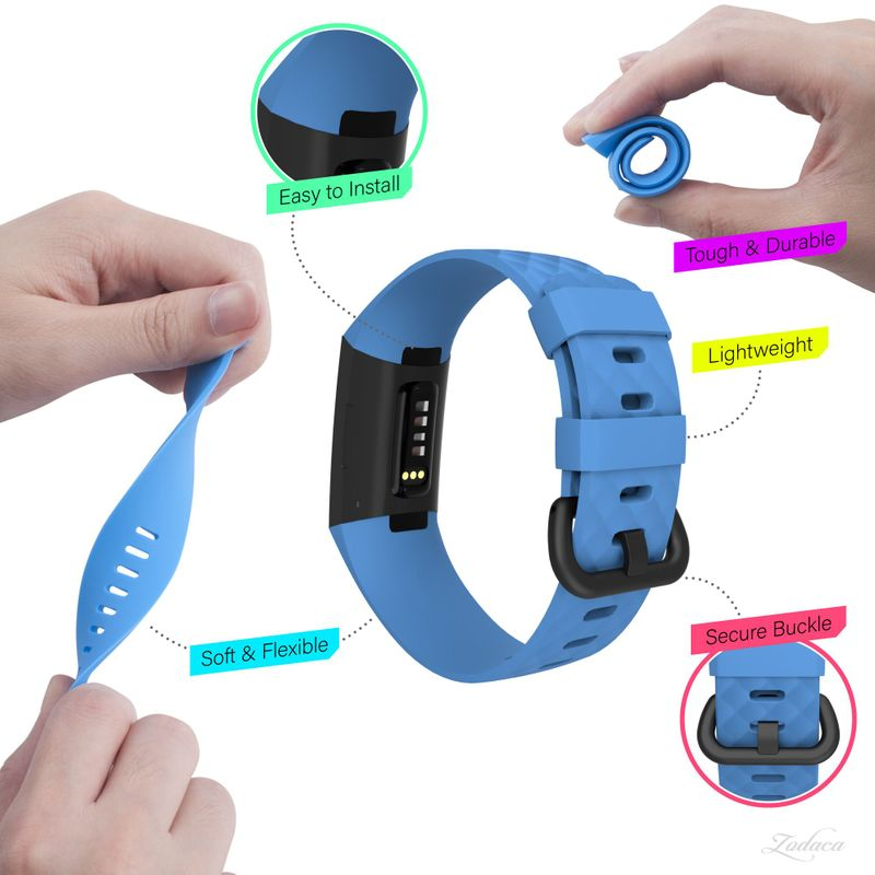 Replacement-Watch-Band-For-Fitbit-Charge-3-Wristband-Silicone-Bracelet-Strap thumbnail 12
