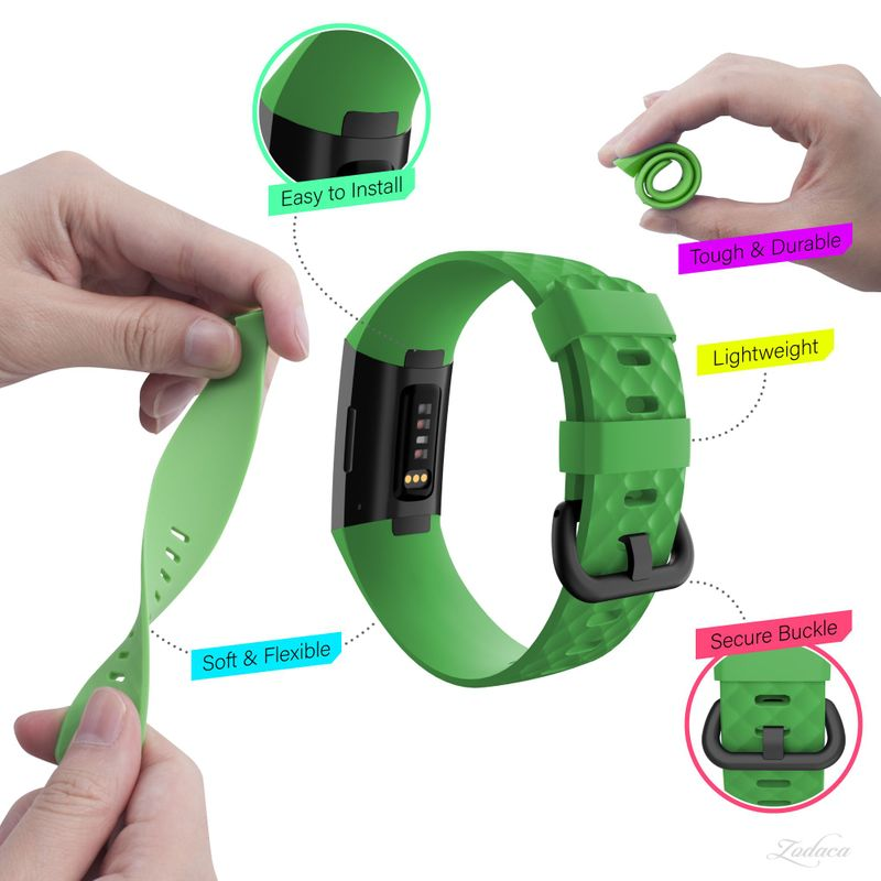 Replacement-Watch-Band-For-Fitbit-Charge-3-Wristband-Silicone-Bracelet-Strap thumbnail 24