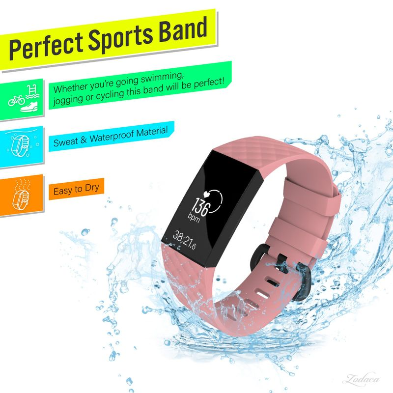 Replacement-Watch-Band-For-Fitbit-Charge-3-Wristband-Silicone-Bracelet-Strap thumbnail 35