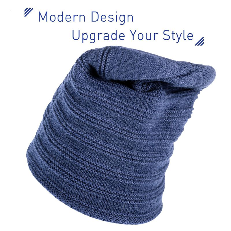 69b9e5ee0 Details about Fashion Design Unisex Mens Womens Insulated Warm Winter  Beanie Stretchy Knit Hat