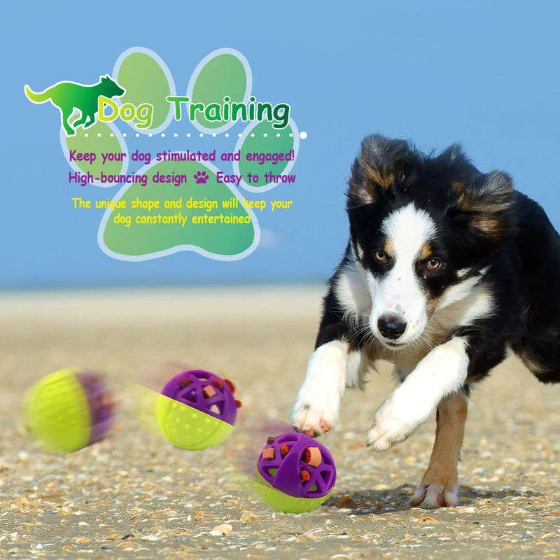 Green-Purple-Pet-Dog-Squeaking-Chew-Tooth-Cleaning-Toys-For-Small-Dog-Puppies thumbnail 3