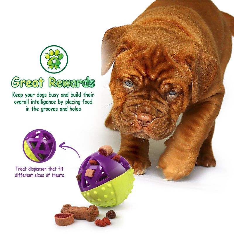 Green-Purple-Pet-Dog-Squeaking-Chew-Tooth-Cleaning-Toys-For-Small-Dog-Puppies thumbnail 4