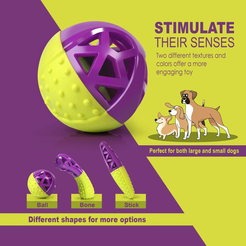 Green-Purple-Pet-Dog-Squeaking-Chew-Tooth-Cleaning-Toys-For-Small-Dog-Puppies thumbnail 5
