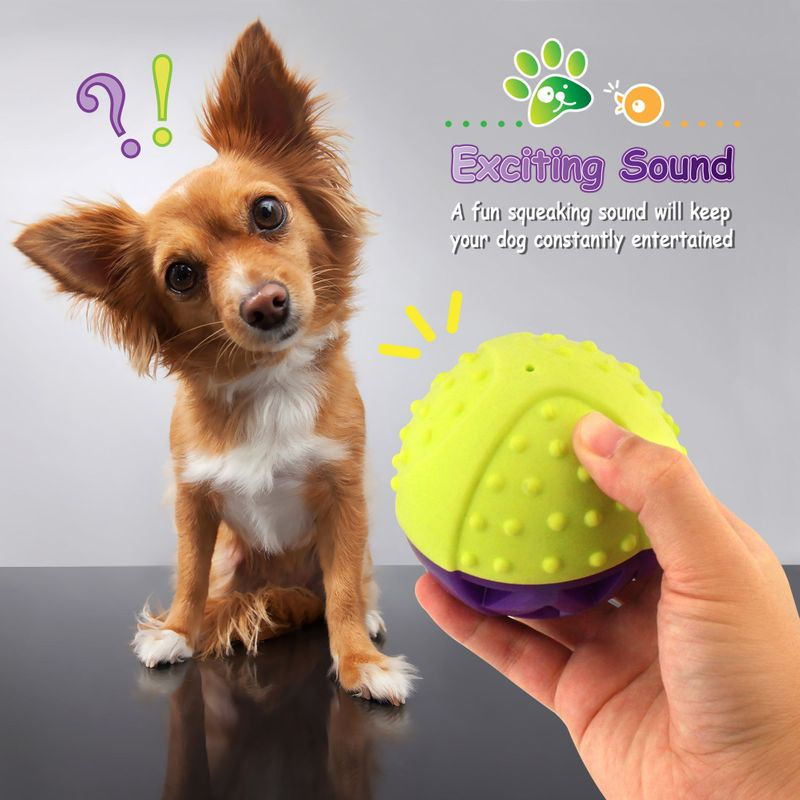 Green-Purple-Pet-Dog-Squeaking-Chew-Tooth-Cleaning-Toys-For-Small-Dog-Puppies thumbnail 6
