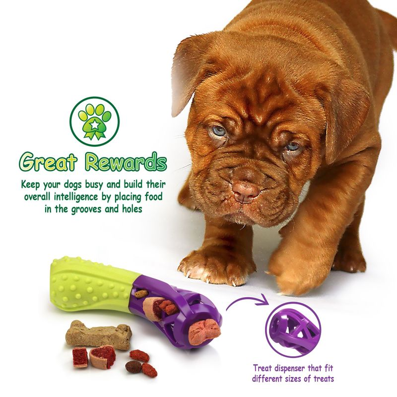Green-Purple-Pet-Dog-Squeaking-Chew-Tooth-Cleaning-Toys-For-Small-Dog-Puppies thumbnail 13