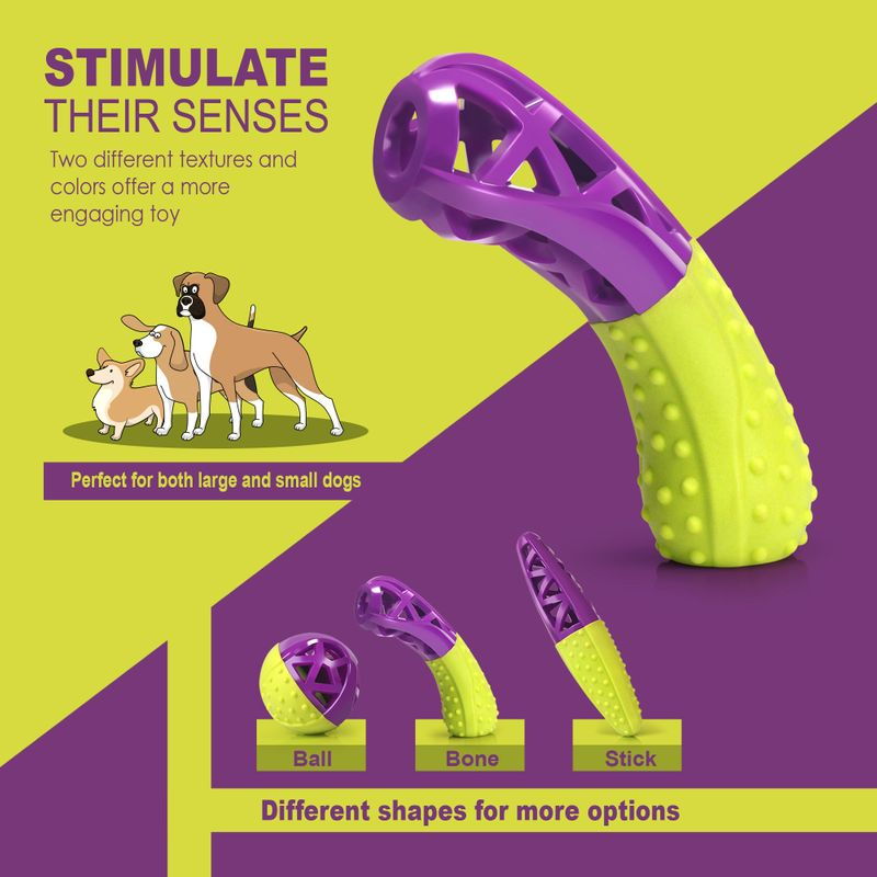 Green-Purple-Pet-Dog-Squeaking-Chew-Tooth-Cleaning-Toys-For-Small-Dog-Puppies thumbnail 14