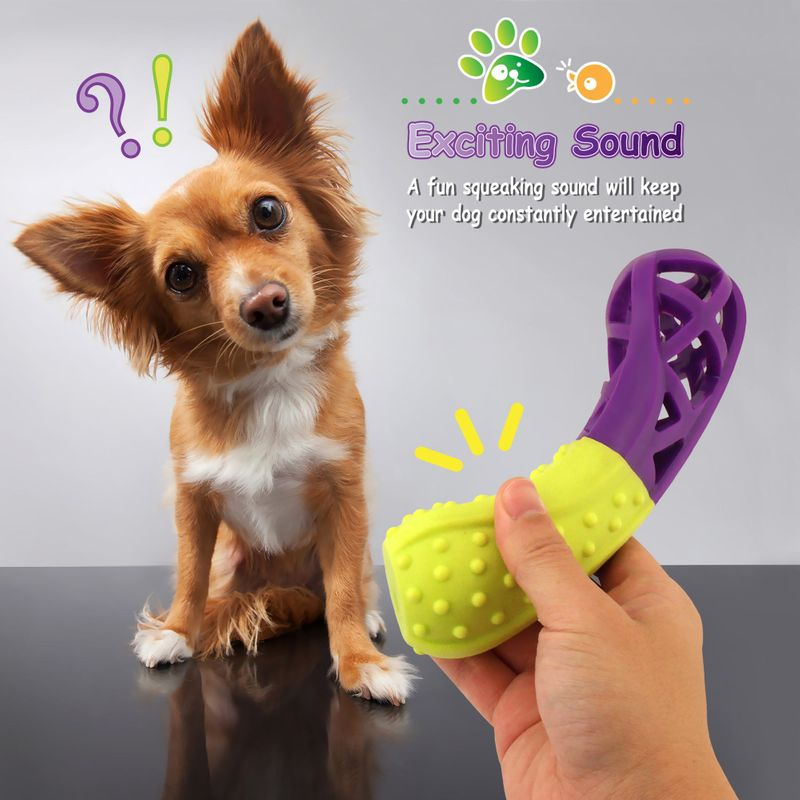 Green-Purple-Pet-Dog-Squeaking-Chew-Tooth-Cleaning-Toys-For-Small-Dog-Puppies thumbnail 15