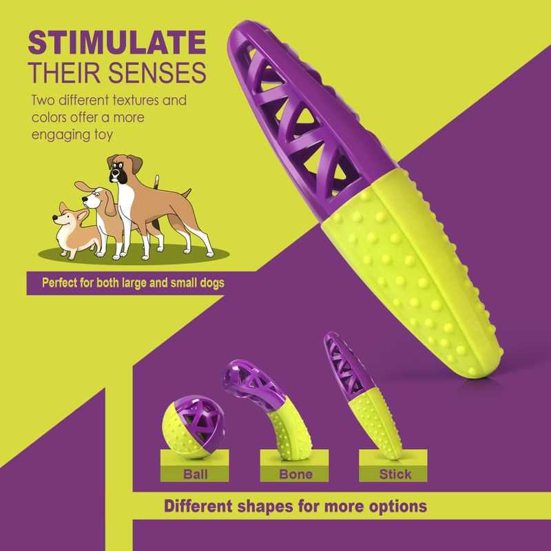 Green-Purple-Pet-Dog-Squeaking-Chew-Tooth-Cleaning-Toys-For-Small-Dog-Puppies thumbnail 23