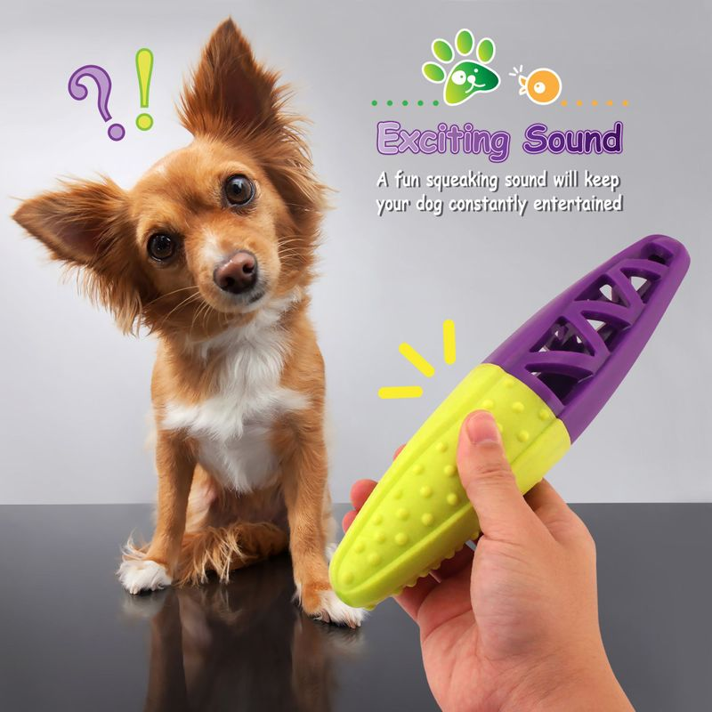 Green-Purple-Pet-Dog-Squeaking-Chew-Tooth-Cleaning-Toys-For-Small-Dog-Puppies thumbnail 24