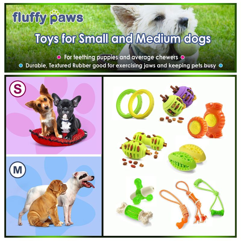 Green-Purple-Pet-Dog-Squeaking-Chew-Tooth-Cleaning-Toys-For-Small-Dog-Puppies thumbnail 26