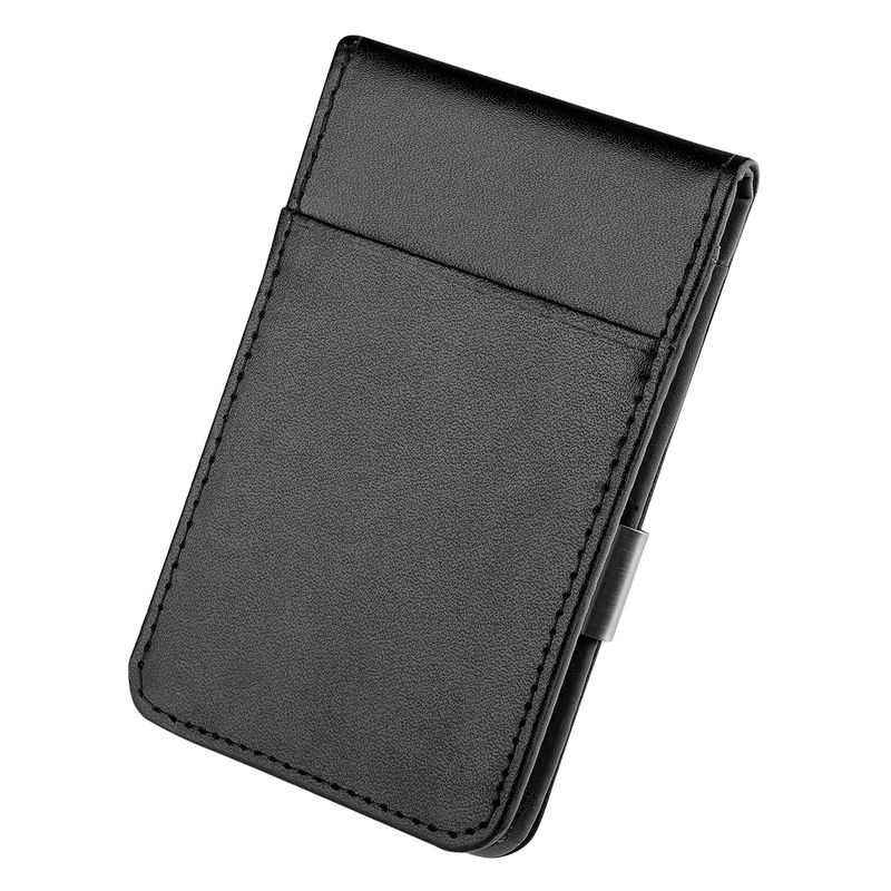 Mens-Genuine-Leather-Silver-Money-Clip-Slim-Wallets-Black-ID-Credit-Card-Holder thumbnail 9
