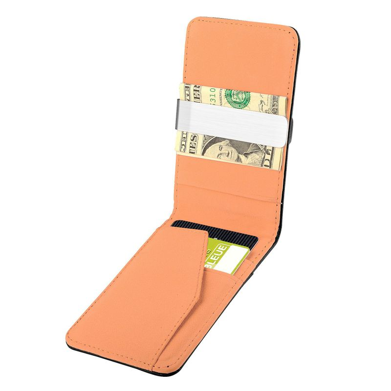 Mens-Genuine-Leather-Silver-Money-Clip-Slim-Wallets-Black-ID-Credit-Card-Holder thumbnail 19