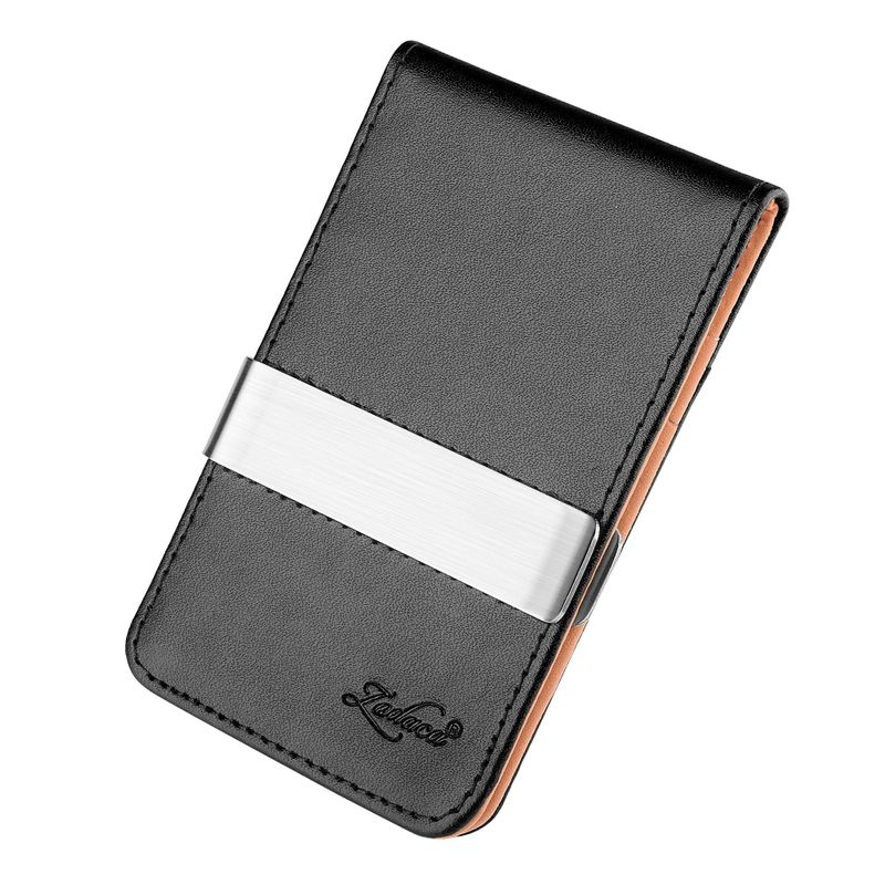 Mens-Genuine-Leather-Silver-Money-Clip-Slim-Wallets-Black-ID-Credit-Card-Holder thumbnail 20