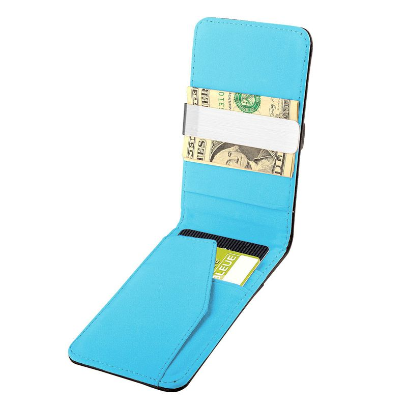 Mens-Genuine-Leather-Silver-Money-Clip-Slim-Wallets-Black-ID-Credit-Card-Holder thumbnail 11