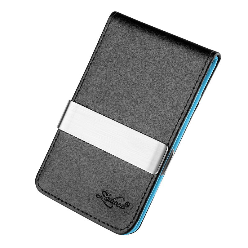 Mens-Genuine-Leather-Silver-Money-Clip-Slim-Wallets-Black-ID-Credit-Card-Holder thumbnail 12