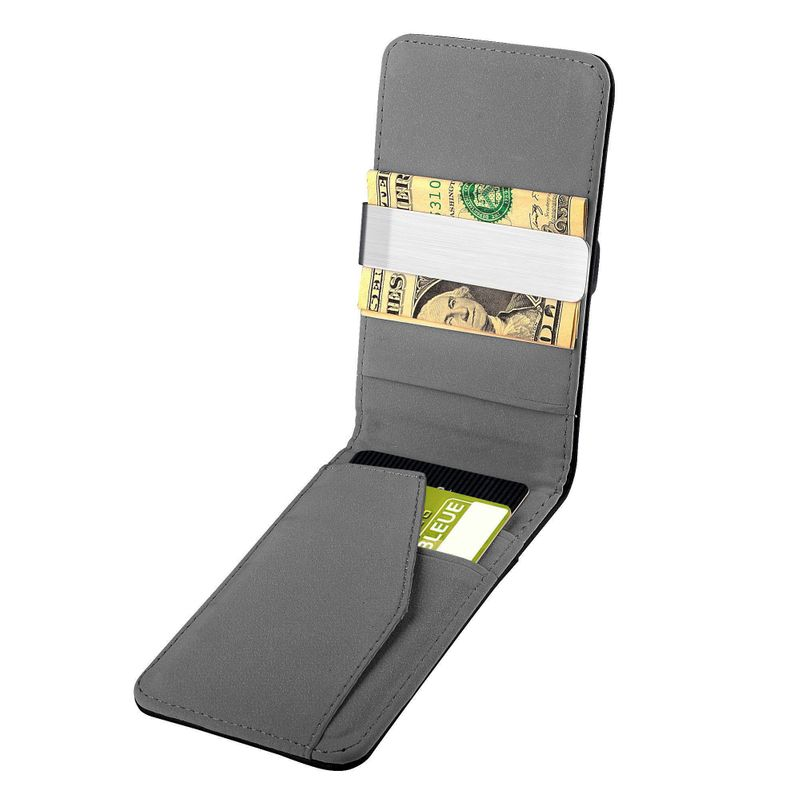 Mens-Genuine-Leather-Silver-Money-Clip-Slim-Wallets-Black-ID-Credit-Card-Holder thumbnail 15