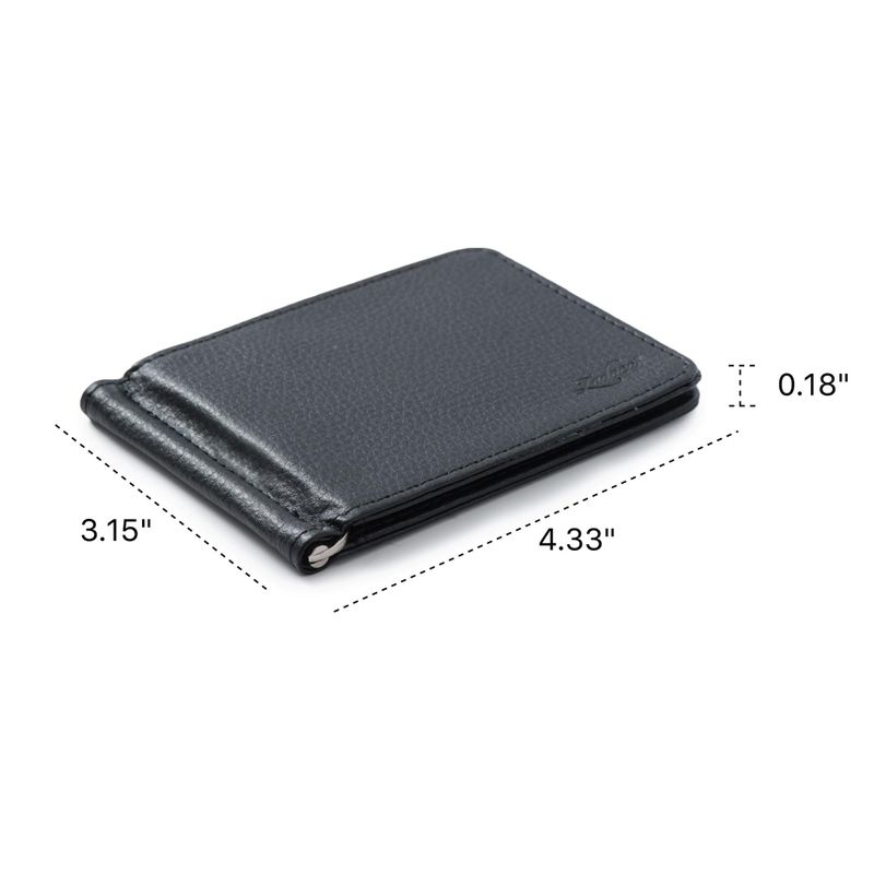 Men-Slim-Leather-Bifold-ID-Credit-Card-Wallet-with-Removable-Money-Clip thumbnail 6