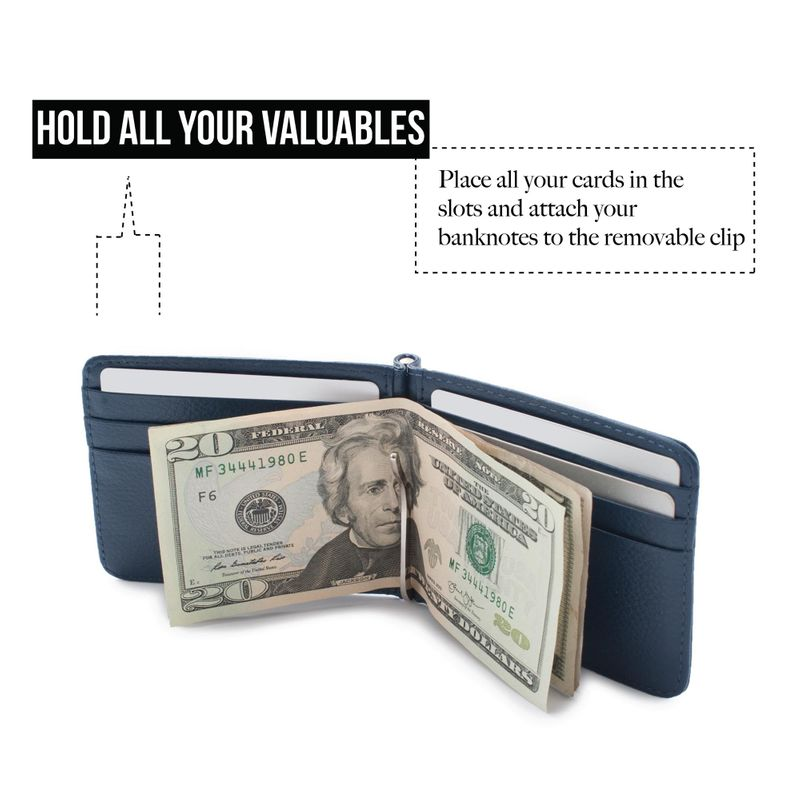 Men-Slim-Leather-Bifold-ID-Credit-Card-Wallet-with-Removable-Money-Clip thumbnail 10