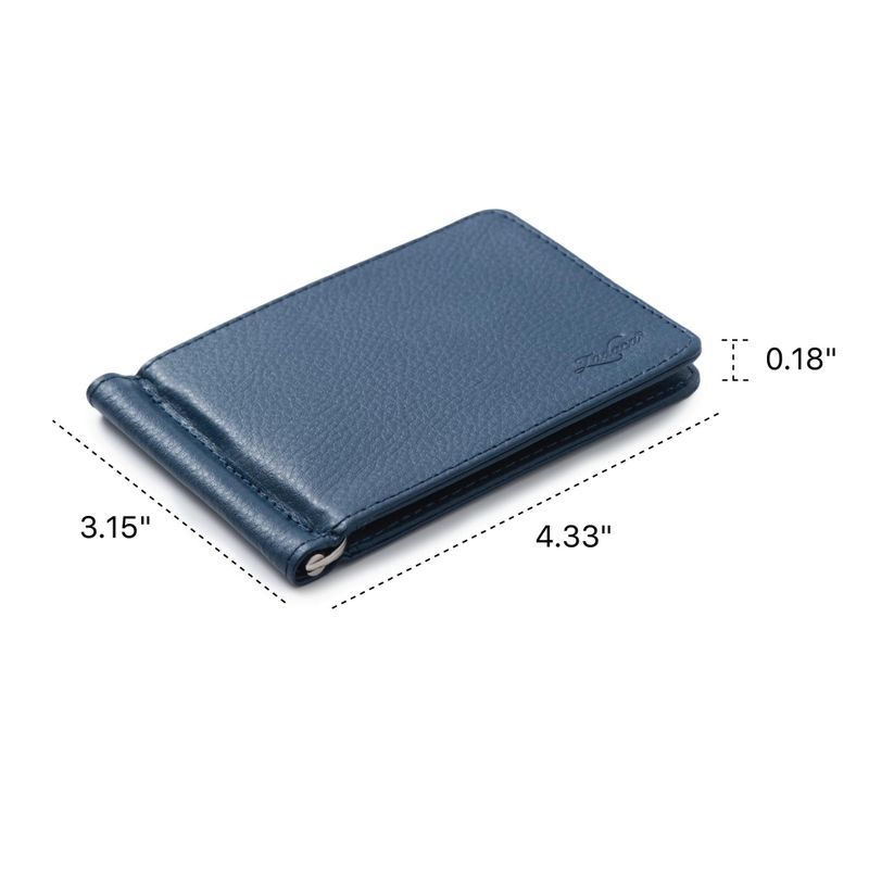 Men-Slim-Leather-Bifold-ID-Credit-Card-Wallet-with-Removable-Money-Clip thumbnail 12