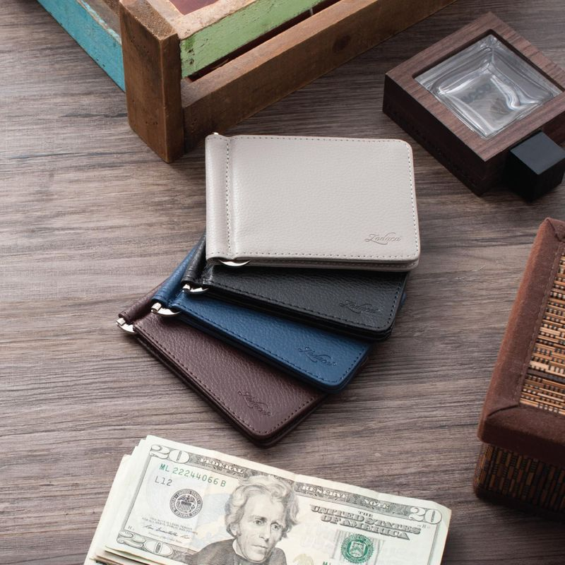 Men-Slim-Leather-Bifold-ID-Credit-Card-Wallet-with-Removable-Money-Clip thumbnail 14