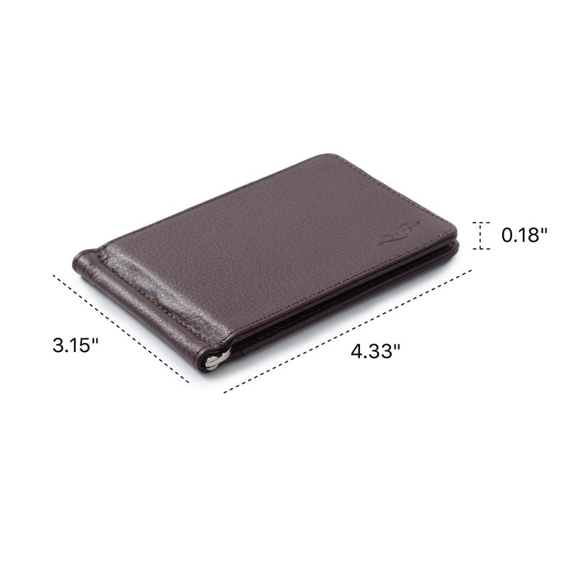 Men-Slim-Leather-Bifold-ID-Credit-Card-Wallet-with-Removable-Money-Clip thumbnail 18