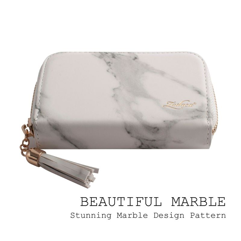 Womens-Leather-Wallet-ID-Credit-Card-Holder-Slim-Thin-Zipper-Pocket-Purse-Case thumbnail 15