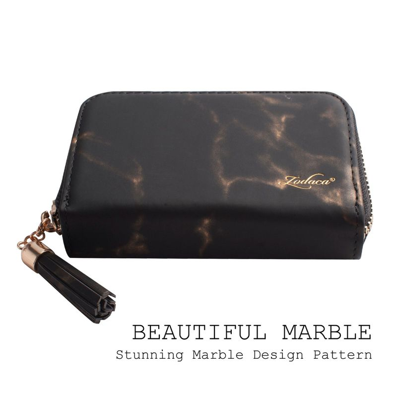 Womens-Leather-Wallet-ID-Credit-Card-Holder-Slim-Thin-Zipper-Pocket-Purse-Case thumbnail 9