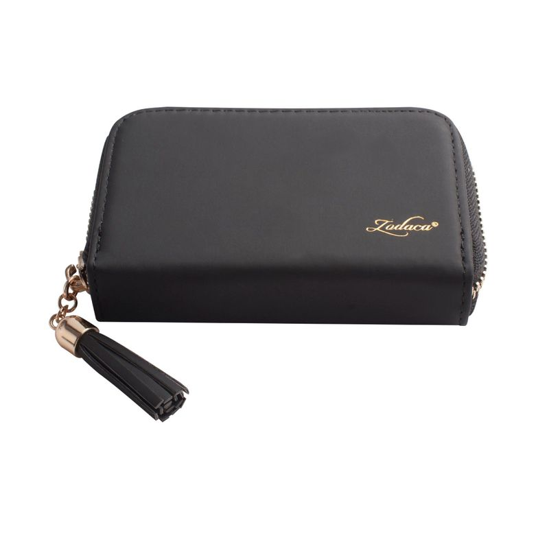 Womens-Leather-Wallet-ID-Credit-Card-Holder-Slim-Thin-Zipper-Pocket-Purse-Case thumbnail 3