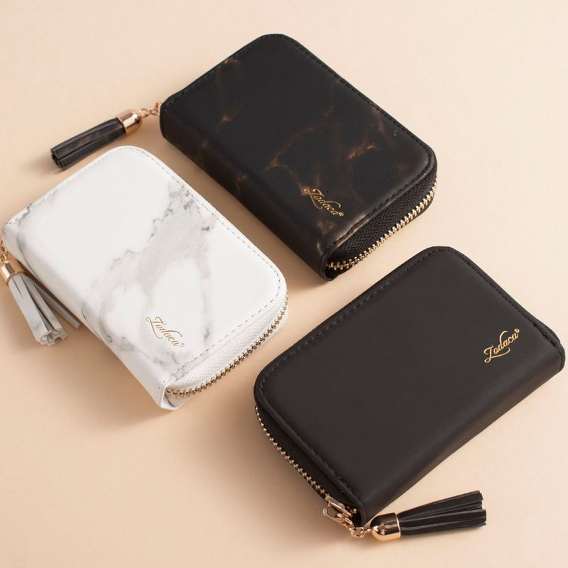 Womens-Leather-Wallet-ID-Credit-Card-Holder-Slim-Thin-Zipper-Pocket-Purse-Case thumbnail 6