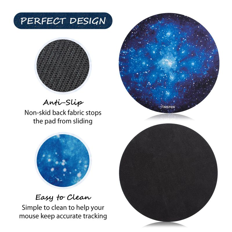 Non-Slip-Round-Galaxy-Mouse-Pad-Mice-Mat-For-Laptop-Notebook-Computer-PC-Gaming thumbnail 4