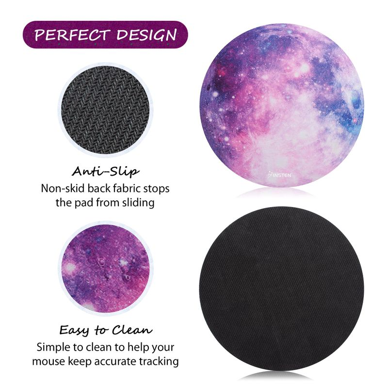 Non-Slip-Round-Galaxy-Mouse-Pad-Mice-Mat-For-Laptop-Notebook-Computer-PC-Gaming thumbnail 8
