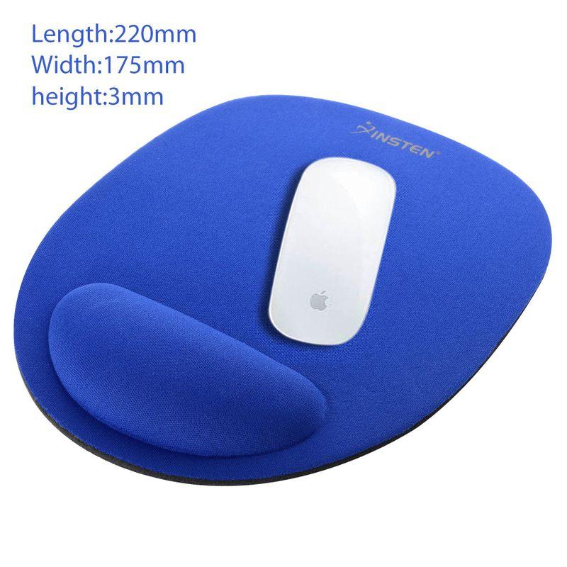 Blue-Wrist-Comfort-MousePad-Red-Black-USB-Optical-Scroll-Wheel-Mouse thumbnail 2