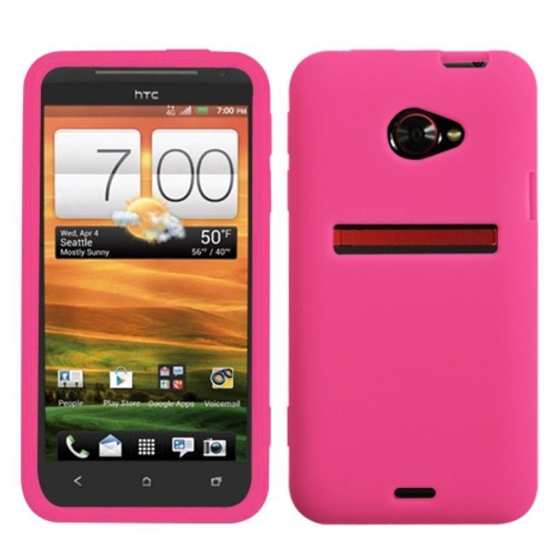 Solid-Skin-Cover-Hot-Pink-For-HTC-EVO-4G-LTE
