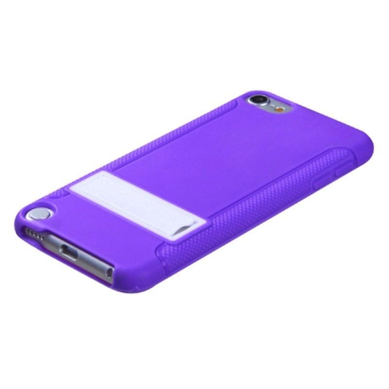 Black-White-Purple-Pink-Gummy-Hard-Stand-Case-Cover-For-ipod-touch-5-6-5th-Gen thumbnail 15