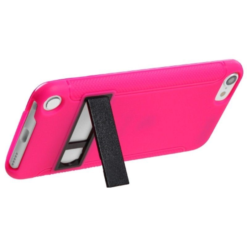 Black-White-Purple-Pink-Gummy-Hard-Stand-Case-Cover-For-ipod-touch-5-6-5th-Gen thumbnail 12
