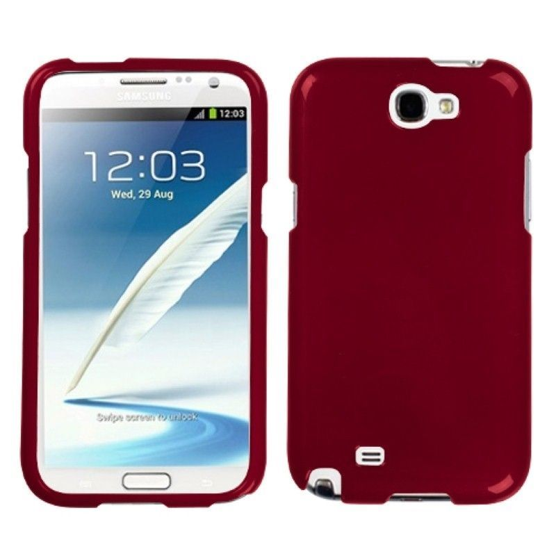 best service 1ac84 7ad2a Details about New Red Snap On Hard Case Cover Skin For Samsung Galaxy Note  2 II N7100