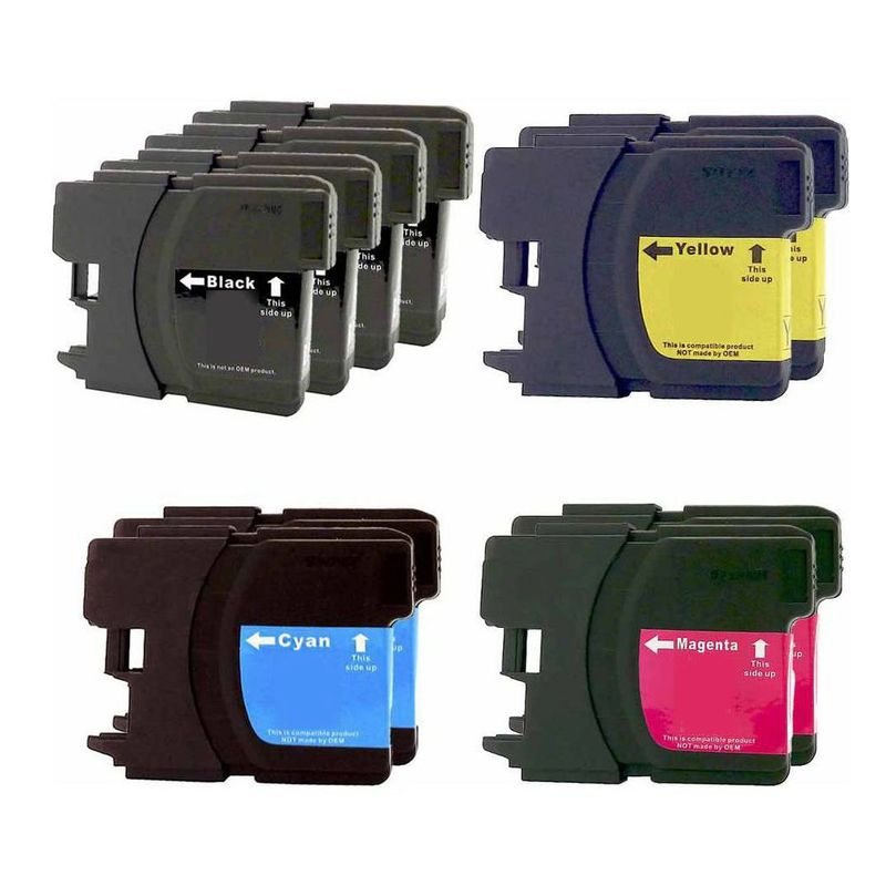 Insten Ink Cartridge for Brother LC61BK x4, LC61C/LC61M/LC61