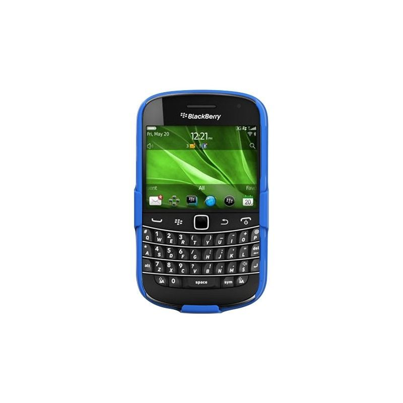 Rubberized-Hard-Case-Stand-Holster-Belt-Clip-For-Blackberry-Bold-9900-Bold-9930 miniature 3
