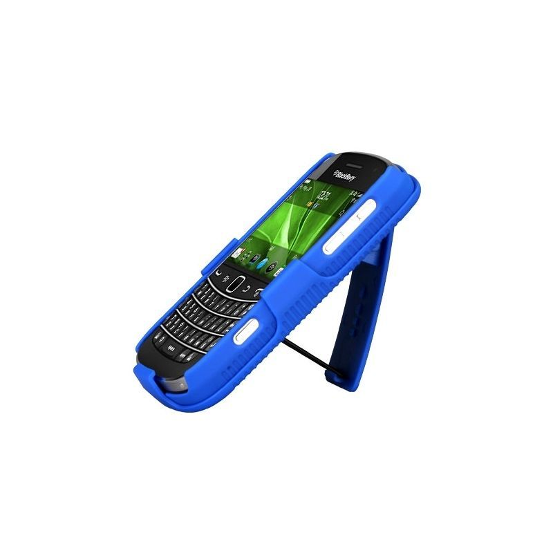 Rubberized-Hard-Case-Stand-Holster-Belt-Clip-For-Blackberry-Bold-9900-Bold-9930 miniature 7